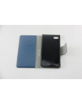 Husa protectie Flip Cover pentru  Blackberry Z10 - bleumarin